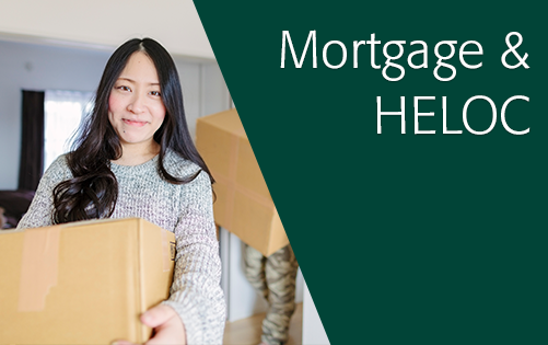 Click here for more information about mortgages and home equity loans.