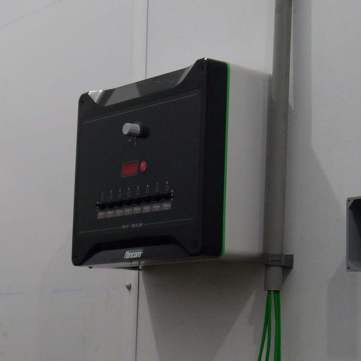 Photo of computer that controls the air quality inside the finishing building