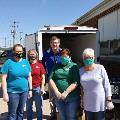 Hoopeston Branch helps distribute lunches to students of the Hoopeston Area School District