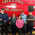 Greentown Branch dropping off goodie bags to local Fire Co. and EMTs