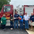 Converse Branch delivering care package to Converse Fire Station