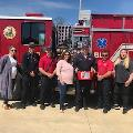Paris Branch drops off goody baskets to local firefighters